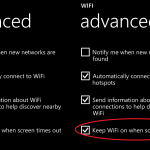 Wifi Disconnect Ketika Lock Screen Windows Phone 8