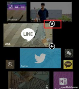Unpin Line Solusi Notifikasi Line Error di Windows Phone