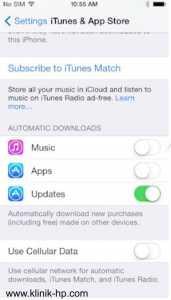 cara mematikan otomatis update dan download di iPhone