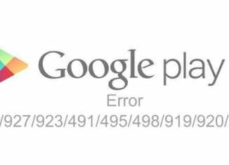 Solusi Google Play Store Error 492-927-923-491-495-498-919-920-941
