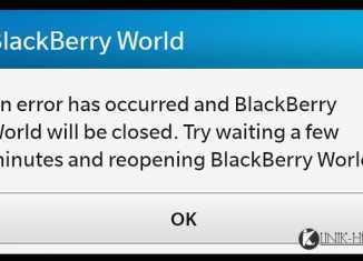 Solusi Mudah BlackBerry World Error