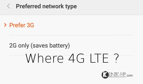 Solusi Pengaturan Jaringan 4G LTE Hilang Xiaomi