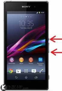 Cara Capture atau Screenshot Sony Xperia Z1 Dengan Mudah