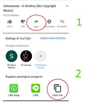 Cara Download Lagu dari Youtube Tanpa Aplikasi - Copy URL Dari Aplikasi YouTube