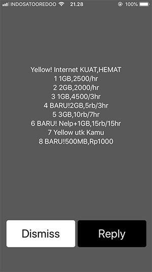 Cara Mudah Daftar Paket Internet IM3 Murah (Paket Yellow) - Menu Utama Paket Yellow