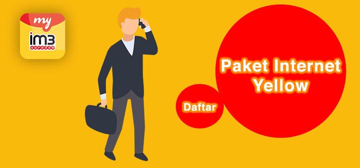 Cara Mudah Daftar Paket Internet IM3 Murah (Paket Yellow)