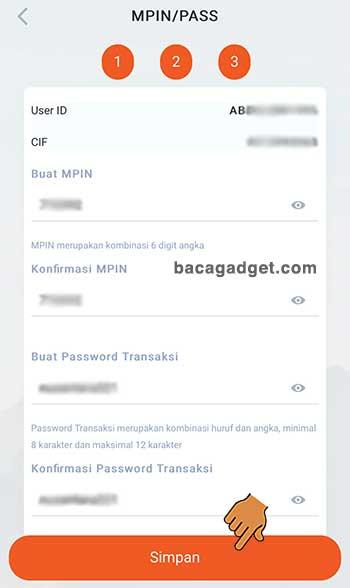 Solusi mBanking BNI Terblokir - Buat Password MPIN / password transaksi