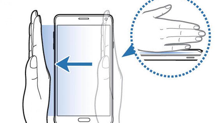 Screenshot Samsung Galaxy Note 10 - Palm Swipe